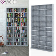 VICCO Medienregal JUKEBOX Grau Beton - Standregal Regalwand Bücherregal Regal