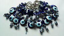 Traditional Turkish Handmade Blue Glass Evil Eye Good Luck Key Ring Chain