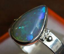 Brazil Crystal Opal 2.7 Karat 950er Silberring Größe 19,1 mm