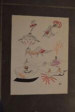 ROBERT BENAYOUN surréalisme cinéma dessin original 44