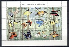 Tanzania Butterfly sheet Scott 1054 mnh vf 20.00