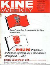 KINE WEEKLY 1968 Chitty Chitty Bang Bang - Benny Hill UK MAGAZINE