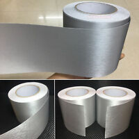 4inch W Silver Metal Matte Brushed Car House ALUMINUM Vinyl Wrap Sticker Tape AB