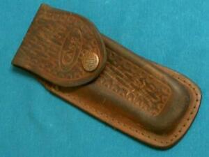 VINTAGE CASE XX 6265 5265 159L SHARKTOOTH SHEATH 4 FOLDING HUNTER BOWIE KNIFE NR