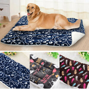 Durable Pet Beds Winter Warm Plush Cushion Sleep Mat Blanket for Kennel Crate