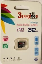 3Puglees Micro SDHC 32GB Class 10 Memory Card Full Capacity