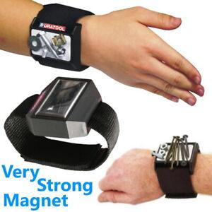 Magnetic Wrist Band Belt Tray Tool Screw Bolt Pin Sewing Nail Bit Dish Holder