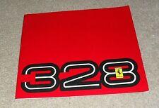 Ferrari 328 GTB & 328 GTS Multilingual Brochure 1986-1989 Models