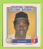 1988 Starting lineup Talking Baseball - Tony Gwynn  San Diego Padres