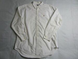 Vintage Men's 16.5 34/35 Ralph Lauren Dress Shirt - White