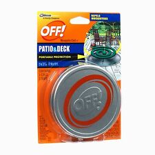Off Patio Deck Mosquito Repellent Outdoor Portable Protection 3 Pot 3 Coil 4 Hr