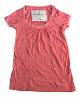 Abercrombie & Fitch Women's T Shirt Pink Small Short Sleeve Cotton Blend