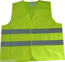 HIGH VISIBILITY REFLECTIVE SAFETY VEST WAISTCOAT FOR WORK EUROPEAN TRAVEL CAR
