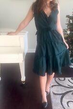"Nina Ricci €1695 Green Silk Radzmir Tiered Ruffle ""Pour le Chic"" Dress SZ 40 NWT"