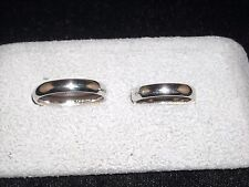 395  14k whie gold Camelot wedding band set 11.4 grams sizes 11 and  7.5