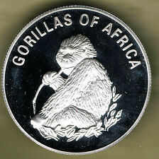 UGANDA - 1000 SHILLINGS 2003 PROOF, GORILLAS OF AFRICA COIN 1