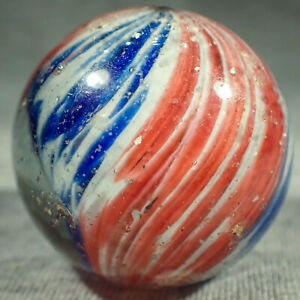 """BB Marbles: 4-Panel End of Day Onionskin. 1-1/4"""". NM-. (B547)"""