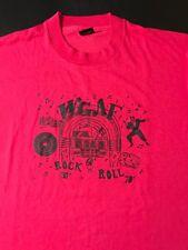 Vintage 80s 90s Wgaf Radio T-Shirt Rock N Roll 50s 60s 70s Elvis Holly Berry