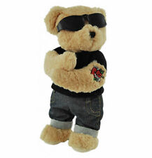"Tattoo Dressed Teddy Bear ""True Love"" with hearts and arrow  12""/30cm Elka NEW"