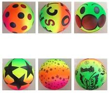 6 ASST 7 IN RAINBOW NOVELTY BALLS new toy bounce ball buttery star smile ect