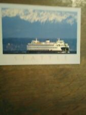 WASHINGTON STATE FERRIES POST CARD M.V.SPOKANE PUGET SOUND FERRY