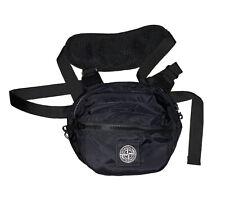 Stone Island Black Crossbody Harness Waist Bag