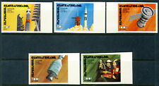 """1975 Central African Republic MNH OG IMPERFORATED set of 5 stamps """"Space"""""""