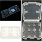 Mini 8 Slot Plastic Storage Holder Carrying Box Case For Micro SD MS Memory Card