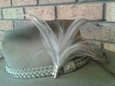 """Emu feather man's lady's hat lapel scarf jumper corsage """"Handmade by Helen"""""""