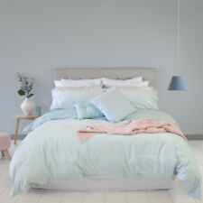 Ardor Boudoir Velvet Duck Egg Queen Bed Size Doona Quilt Cover Set Rrp119.95