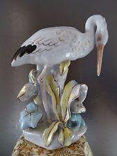 Storch und Frosch, Porzellanfigur, DULEVO, Russland UdSSR