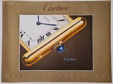 Cartier joailliers horlogers 1985 Sérigraphie Publicitaire Horlogerie Mode