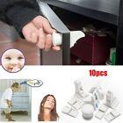 10pcs Magnetic Child Baby Toddler Safety Drawer Door Cabinet Cupboard Locks Keys