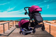 3 in 1 Kids Pram Pushchair Stroller Combi Stroller Buggy Baby Jogger Travel Bugg