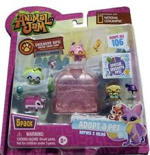 Animal Jam Adopt A Pet 5 Pack Set Series 2 Pink Igloo National Geographic Toys