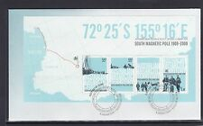 AUSTRALIAN ANTARCTIC - 2009 CENTENARY of FIRST EXPEDITION to POLE MINISHEET FDC