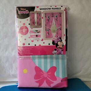 *NEW* Disney Junior Minnie Mouse Window Panel Curtains  (WINDSZ- 84×36)