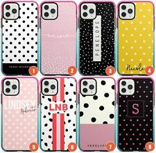 Customised Polka Dot Designs Impact Phone Case for iPhone | Custom Spots Name Un