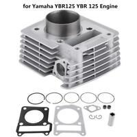 54mm Cylinder Kit Barrel w/ Piston Gasket Big Bore for Yamaha YBR125 Engine