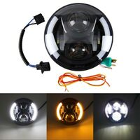 "7 "" 60W 12V to 30V LED Moto DRL phare Angel ampoule pour Harley Davidson Lampe"