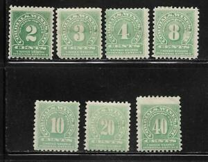 US Internal Revenue Cordials Wines ECT Packet Set of 7 Stamps mint RE5 / RE14