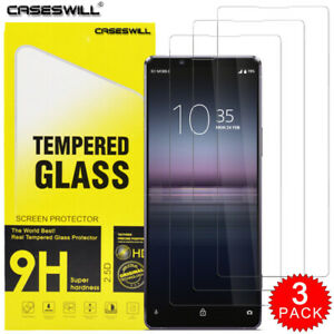 For Sony Xperia 5 10 1 III II L4 L3 HD-Clear 9H Tempered Glass Screen Protector