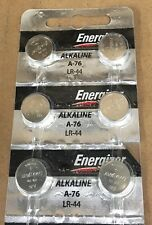 Pack of 6 Energizer A76 LR44 AG13  Alkaline Batteries