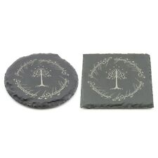 Lord of The Rings Coaster Gondor Laser Engraved Slate Coffee Tea Gift Novelty