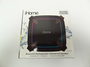 iHome Weather Tough Portable Rechargeable Bluetooth Mini Speaker NEW Sealed