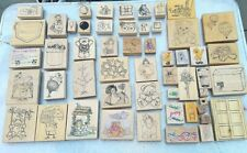 140 Rubber Stamp Wooden Stamps D.O.T.S, Stamps Happen inc. Darcie's Country Folk