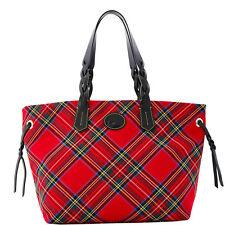NWT*Dooney & Bourke* RED*Tartan Plaid* Shopper* 17045C  S113