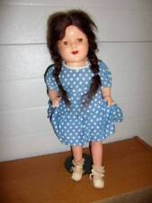 "Unknown ~ Vintage 1920-30's Hp Composition 19"" Doll Tin Eyes"