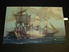 HMS GUERRIERE Naval Cover unused postcard WAR of 1812 vs USS CONSTITUTION