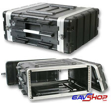 "19"" 4U ABS Flight Rack Mount Pulse Equipment Case PA Amp & DJ Gear - BNIB"
